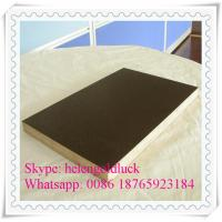 Wholesale 6-8 Reuse Times Anti-slip 15mm Brown Film Faced Plywood for Construction from china suppliers