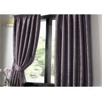 China Colourfast UV Protection Curtains , Indoor Purple Jacquard Curtains Dustproof wholesale