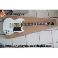 ShengQue SG Model Electric Guitar White Color Guitars With Rosewood Fingerboard