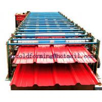 China Double Layers Wall Panel Roll Forming Machine Automatic High Speed have Panasonic PLC control wholesale
