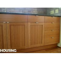 Eco friendly bamboo kitchen pantry storage cabinet with for Bamboo kitchen cabinets australia