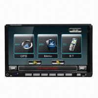 China 7-inch Double Din Car GPS with Detachable Keyboard/ Built-in DVD/Radio/Bluetooth, at Favorable Price on sale