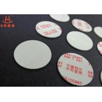 China Environmental Filmed Fiber Small Desiccant Packs 1.0mm Thickness , Circle Shaped wholesale