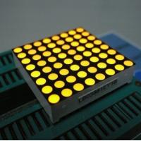 China Yellow 3mm 8x8 Dot Matrix Led Display With White Dots Black Surface wholesale