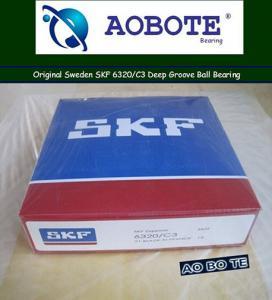 China Long Life Deep Groove Ball Bearing SKF 6320 C3 For Pharmaceutical wholesale