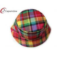 China Women Classical Red Fisherman Tartan Hats With Comfortable Cotton Sweatband wholesale