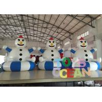 China Indoor Playground Inflatable Interactive Games , Inflatable Snowman Decorations For Advertising wholesale