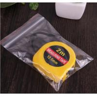 China LDPE Waterproof Clear Plastic Zip Bags , Plastic Storage Bags With Zippers wholesale