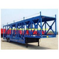 China Customized FUWA axles 8 units car carrier semi trailer truck with Mechanical suspension on sale