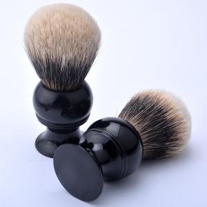 Quality 2 Band Shaving Brush badger hair knots,shaving brush,make up brush black handle for sale