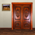 leffeck high end 100% plain wood double doors - Custom Made