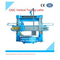China 4 Jaw Chuck Dual Turret Vertical lathe price on sale