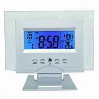 China Digital Desk Clock with Calendar/Digital Thermometer/Weather Forecast, OEM Orders are Welcome wholesale