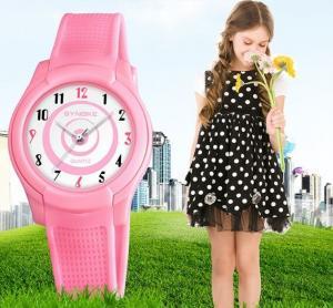 China New Children Students 9mm Ultra-thin watch Waterproof 50m PU Band High Quality Quartz Sport Watch  9588 wholesale