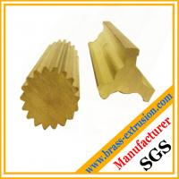 China brass extrusion profiles of gear sections and valve sections wholesale