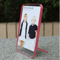 China clear acrylic pink side paperweight photo frame wholesale
