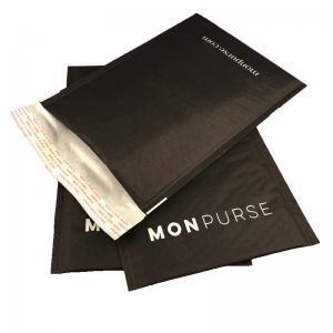 China Black Self Sealing Kraft Bubble Mailer Padded Envelope With Logo wholesale
