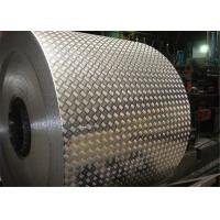 China 1050 , 3003 , 3105 Five Bars Embossed Aluminum Checkered Plate / sheet Max thick 5mm wholesale