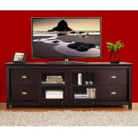 China Dark Wood MDF TV Stands Furniture With Media Storage Shelf / Veneer Surface wholesale