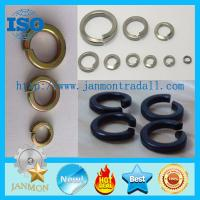 Buy cheap Black/Zinc Plated Spring Washer,Spring washer,Spring steel washer,Zinc galvanized spring washer from wholesalers