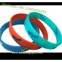 China Cheapet Price and colorful custom Top Quality Logo Printed Silicone Bracelet wholesale