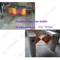 China 90CM width Sliding Card Double Wing access control barriers with automatic sensor wholesale