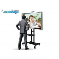 China Free Standing Sliding Smart Interactive Whiteboard Lcd Pc Interactive Smart Board wholesale