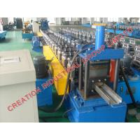 China Automatic Metal Door Frame Making Machine With Cr12 Mould Steel Rollers on sale