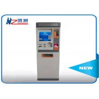 Touch ATM kiosk floor standing payment terminal with cash deposit acceptor