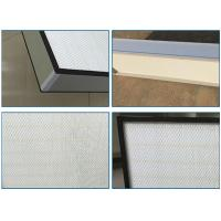 China Top Side Gel Seal Clean Room HEPA Filters , Leak Proof High Flow HEPA Filter H14 wholesale