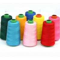China Embroidery Dyed Polyester Yarn 20 / 2 100% Polyester Sewing Thread For Jeans on sale