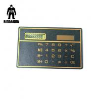 China Portable Micro PVC Business Cards , Black Blank Plastic Id Cards Solar Calculated on sale