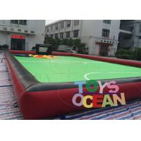 China Popular PVC Inflatable Interactive Games Soapy Water Soccer Court Football Sport Soccer Field wholesale