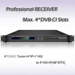 RSR1114 Digital TV DVB-T2 Demodulator  professional IRD IPTV Headend 4*DVB-T2 Input 48*SPTS UDP/IP Output