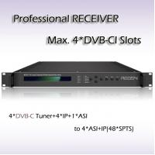 Quality RSR1114 Digital TV DVB-T2 Demodulator  professional IRD IPTV Headend 4*DVB-T2 Input 48*SPTS UDP/IP Output for sale