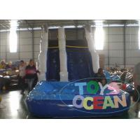 China 7x4x5m PVC Blue Inflatable Water Slide With Small Pool For Rental wholesale