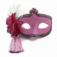 China Pink Mask with Flower, Made of Plastic, Available in Various Colors wholesale