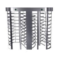 China Automatic Electric Full Height Turnstile Entrance Gate With Stainless Steel Tube wholesale