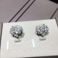 China Piaget brand jewelry 18kt  Piaget Rose earrings in 18K white gold set with 72 brilliant-cut diamonds (approx. 0.45 ct). wholesale