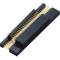 China 2.54mm Gold Flash PC 104 Connector 180° DIP  2.0AMP H=11.0 DIP=12.2 PPS black ROHS wholesale