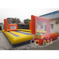 China Sea Beach Inflatable Sport Game Water Football Soccer Field With Volley Count Pitch wholesale