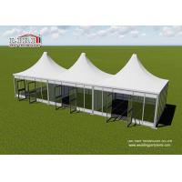 China Aluminum Modular Pyramid Roof Top Garden Party Tents , Outdoor Marquee Party Tent wholesale