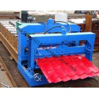 China Metal Roof Forming Machine Glazed Tile Cold Forming Machin Color Steel Glazed Roofing Tile Making Machine wholesale