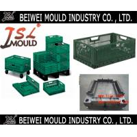 Buy cheap top quality collapsible storage crate injection mould from China from wholesalers
