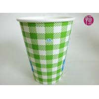 China 12oz Soda Drink Cold Paper Cups With Lid ,  Fully Eco Friendly Single Wall Paper Cup wholesale