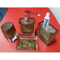 Polyresin bathroom set bathroom accessory sets bathroom for Bathroom accessories sets on sale