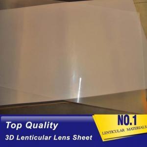 China Super transparent PS 3d lenticular 1.2*2.4m 2mm 40lpi 3.95mm material for injekt 3d lenticular printing and UV flatbed wholesale