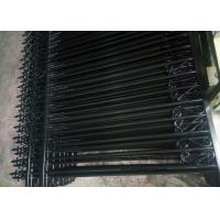 China Anti - Climb Automatic Driveway Gates Garrison Steel Tubular Fence For Yard wholesale