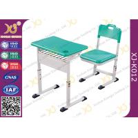 China Classroom Single Modern School Desk And Chair With Aluminum Alloy Frame wholesale