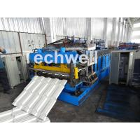 China 7.5KW Metal Tile Roll Forming Machine For Color Steel / Galvanized Coil wholesale
